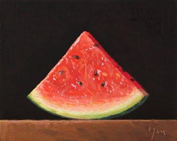 """Summer Watermelon Slice"" original fine art by Abbey Ryan"