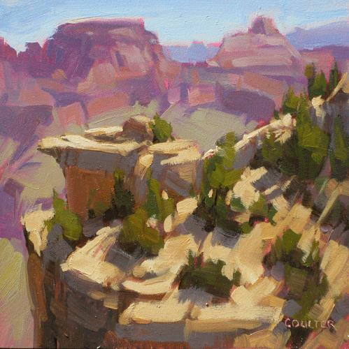 """""""CANYON EARLY LIGHT"""" original fine art by James Coulter"""