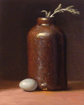 """""""Robin's Egg with Bottle and Sage"""" original fine art by Abbey Ryan"""