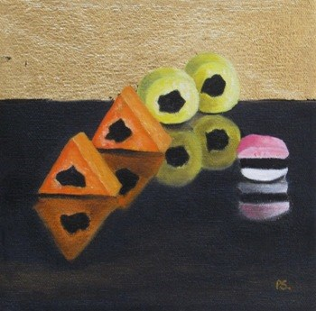 """""""All Sorts with gold leaf"""" original fine art by Pera Schillings"""