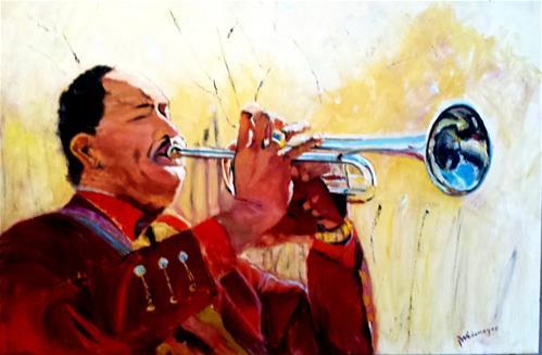 """Carlos"" original fine art by Pamela Wedemeyer"
