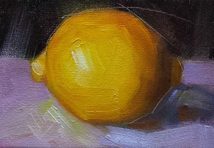 """Mini Lemon"" original fine art by Cindy Haase"