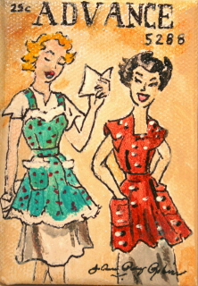 """Vintage Housewives"" original fine art by JoAnne Perez Robinson"