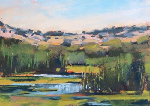"""Sedona Wetlands and Climbing Red Rocks"" original fine art by Karen Margulis"