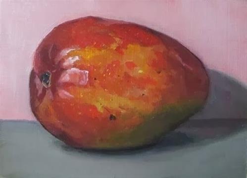 """""""5- Mango on Pink"""" original fine art by Edward Watson"""