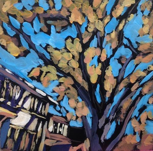 """Neighborhood Shadows"" original fine art by Kat Corrigan"