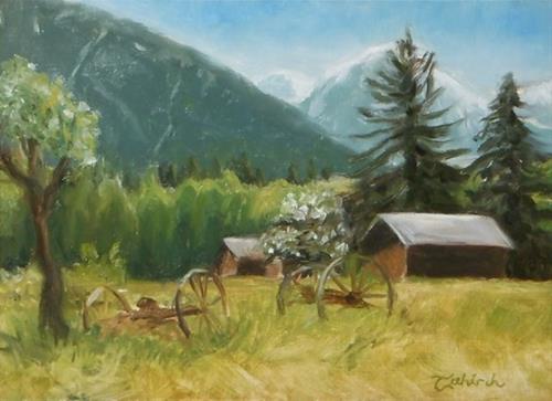 """Casperson's Farm ~ Landscape painting"" original fine art by Tahirih Goffic"