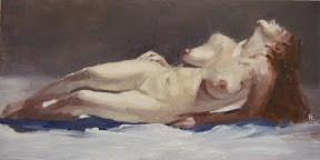"""""""Nude study # 1"""" original fine art by Helen Cooper"""