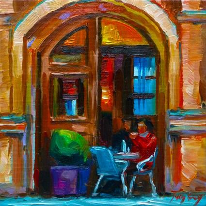 """the coffee"" original fine art by Jurij Frey"
