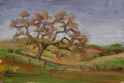 """Old Oak"" original fine art by Raymond Logan"