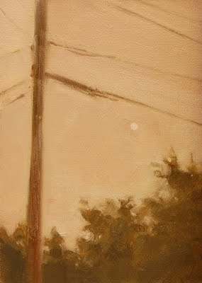 """Foggy Treetops"" original fine art by Laurel Daniel"