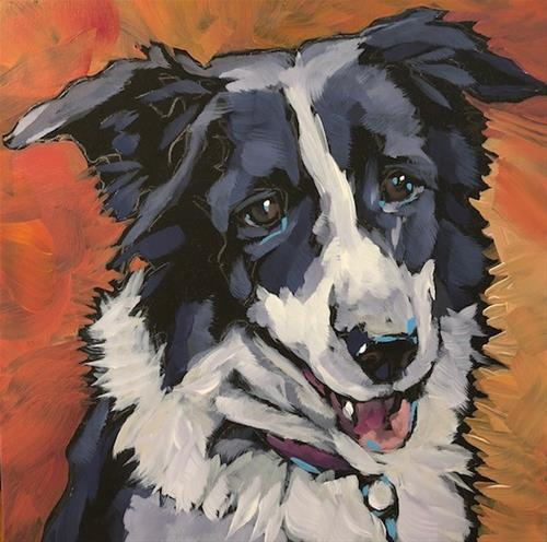 """July 25, Bella"" original fine art by Kat Corrigan"