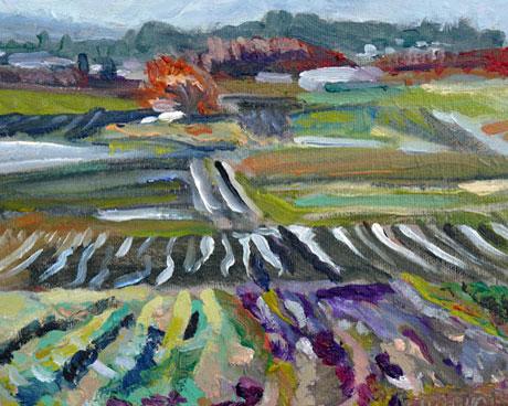 """""""Mitchel Farm"""" original fine art by Darlene Young"""
