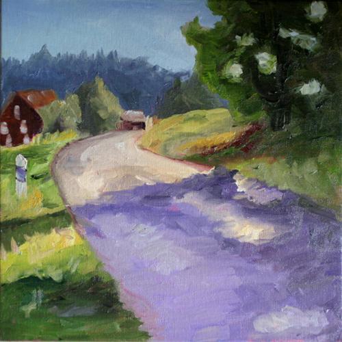 """""""Carol's German Landscape"""" original fine art by Kristen Dukat"""