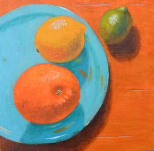 """Citrus Circus"" original fine art by Robert Frankis"