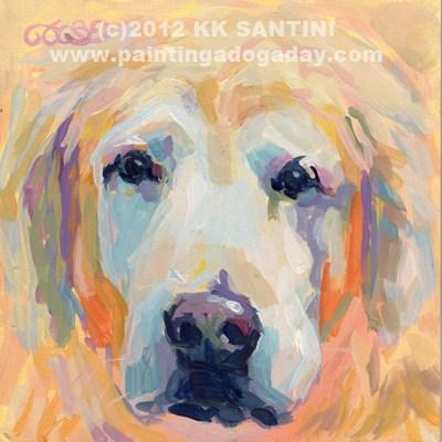 """Rocky"" original fine art by Kimberly Santini"