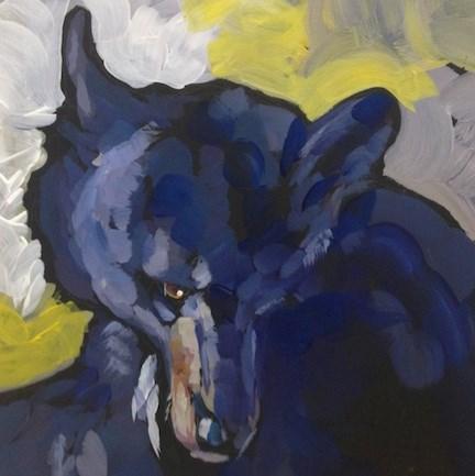 """Bashful Bear"" original fine art by Kat Corrigan"