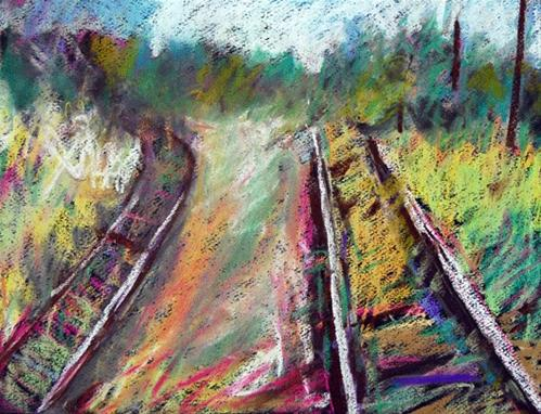 """Which Is Less Travelled"" original fine art by Donna Crosby"