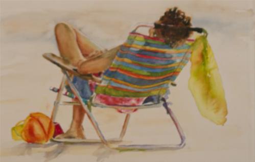 """""""Chillaxin"""" original fine art by Sue Churchgrant"""