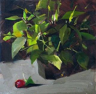 """Nameless Greens"" original fine art by Qiang Huang"