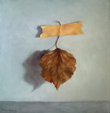 """Taped Leaf No.2"" original fine art by Michael Naples"