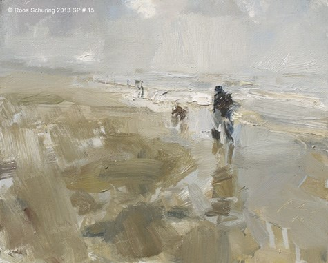 """""""Seascape spring 15 Walker (available)"""" original fine art by Roos Schuring"""