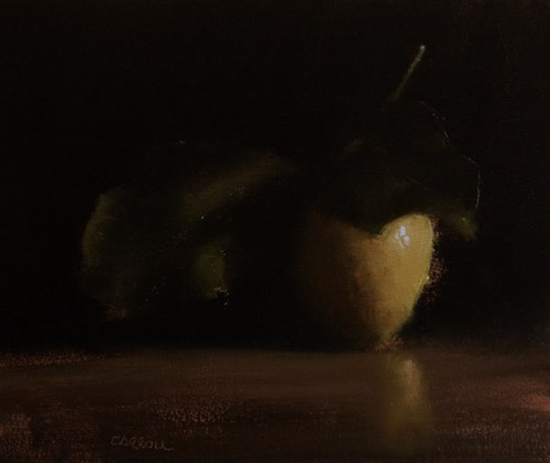 """Leaf with Lemon"" original fine art by Neil Carroll"