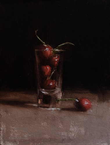 """""""Shot of Cherries"""" original fine art by Neil Carroll"""