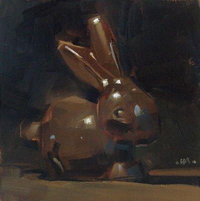 """Chocolate Bunny"" original fine art by Carol Marine"