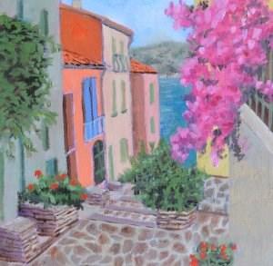 """Beautiful Bougainvillea"" original fine art by Robert Frankis"