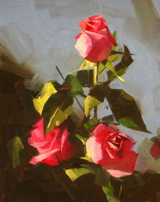 """Morning Rose 2 --- Sold"" original fine art by Qiang Huang"