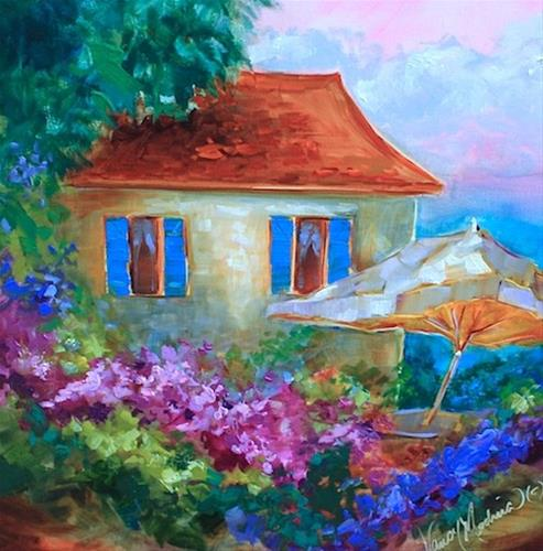 """""""A Seaside Cottage and a St. Louis Workshop - Flower Painting Classes and Workshops by Nancy Medina A"""" original fine art by Nancy Medina"""