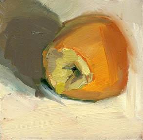 """#906 This Little Persimmon"" original fine art by Lisa Daria"