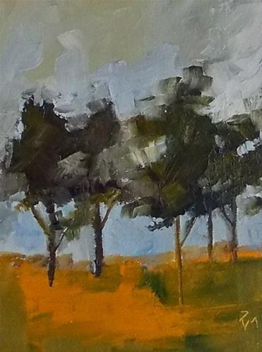 """""""Autumn's Trees"""" original fine art by Pamela Munger"""