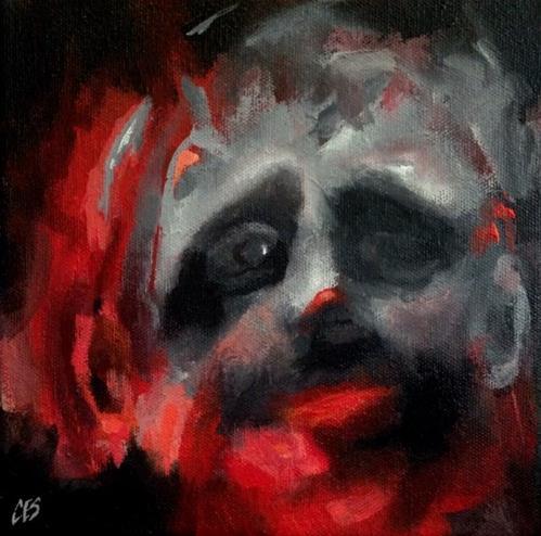 """""""Clown Sighting"""" original fine art by ~ces~ Christine E. S. Code"""