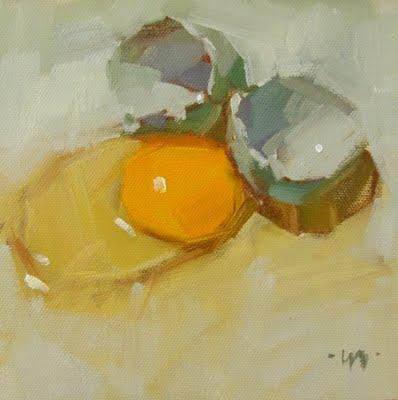 """Clown Egg & workshop"" original fine art by Carol Marine"