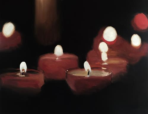 """""""Red Candles"""" original fine art by James Coates"""