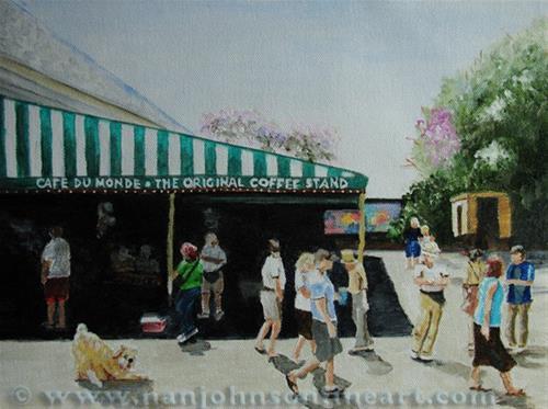 """Cafe DuMonde"" original fine art by Nan Johnson"