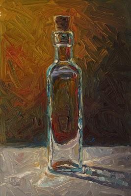 """""""Cork in Bottle"""" original fine art by Raymond Logan"""
