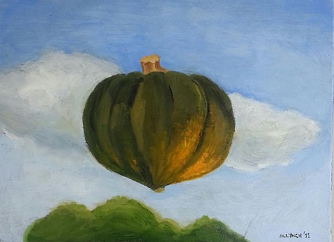 """Floating Acorn Squash"" original fine art by Marie Lynch"
