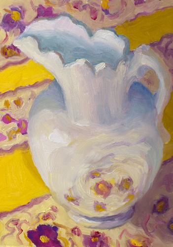 """The Color of White (Warm)"" original fine art by Jana Bouc"