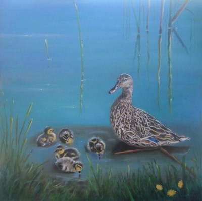 """A Watchful Eye, by Linda McCoy"" original fine art by Linda McCoy"
