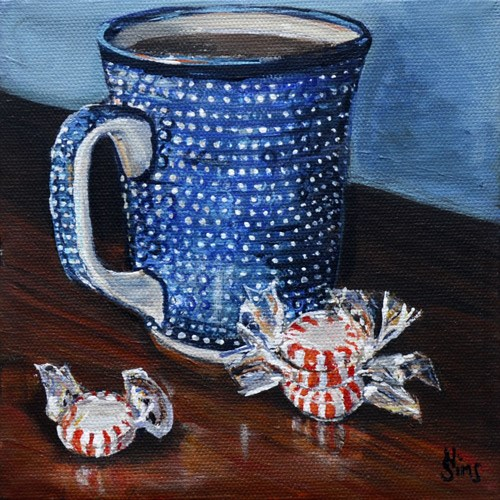 """Mints: Polish Pottery LXIX"" original fine art by Heather Sims"
