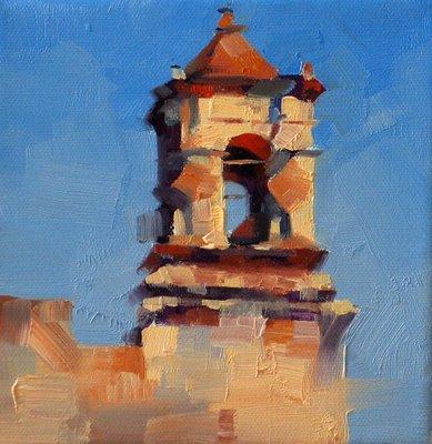 """Mission San Jose 1"" original fine art by Qiang Huang"