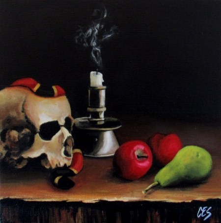 """Forbidden Fruit"" original fine art by ~ces~ Christine E. S. Code"