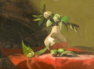 """Fresh Pecans --- Sold"" original fine art by Qiang Huang"
