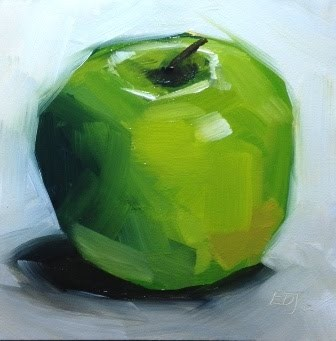 """12:5 - Saturday Night Apples"" original fine art by Elizabeth Dawn Johnston"
