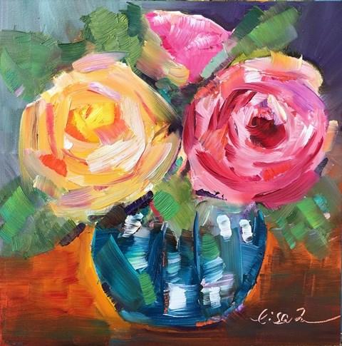 """""""Winter Blooming #2"""" original fine art by Lisa Fu"""