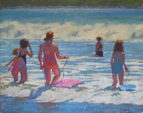 """Surf"" original fine art by Kathy Weber"