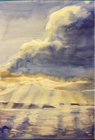 """Big cloud"" original fine art by Natasha Ramras"